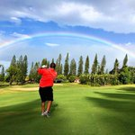 Image for the Tweet beginning: Somewhere over the Rainbow... 🌈🏌🏽♂️