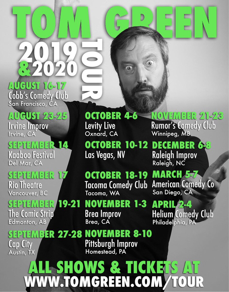 Tom Green (@tomgreenlive) | Twitter