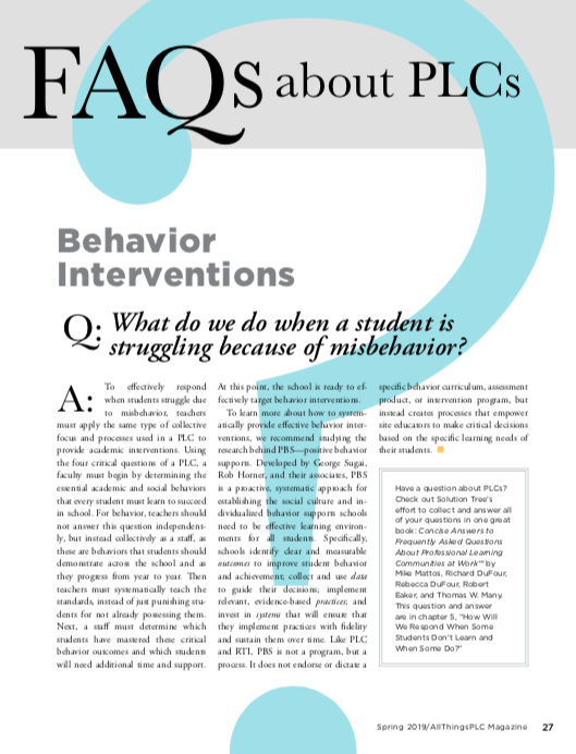 What do we do when a student is struggling because of misbehavior? #atPLC bit.ly/2AsJ2DP