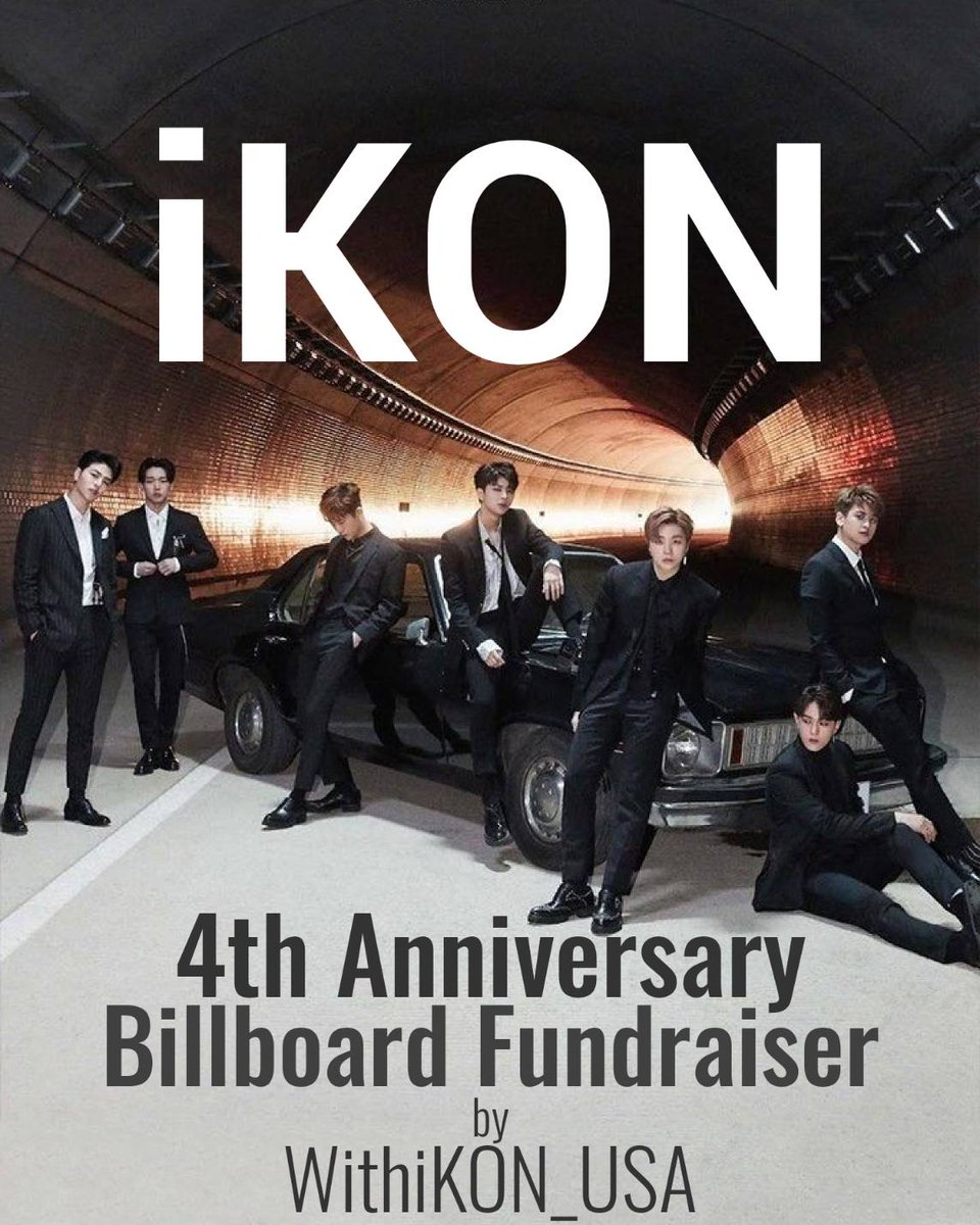 For iKONs 4th anniversary, we want to put an ad on a billboard in NY Times Square. It would be a lovely gift from iKONICs to show we support them! Please help us wish #iKON happy anniversary. TY <3 bit.ly/4iKON @YG_iKONIC