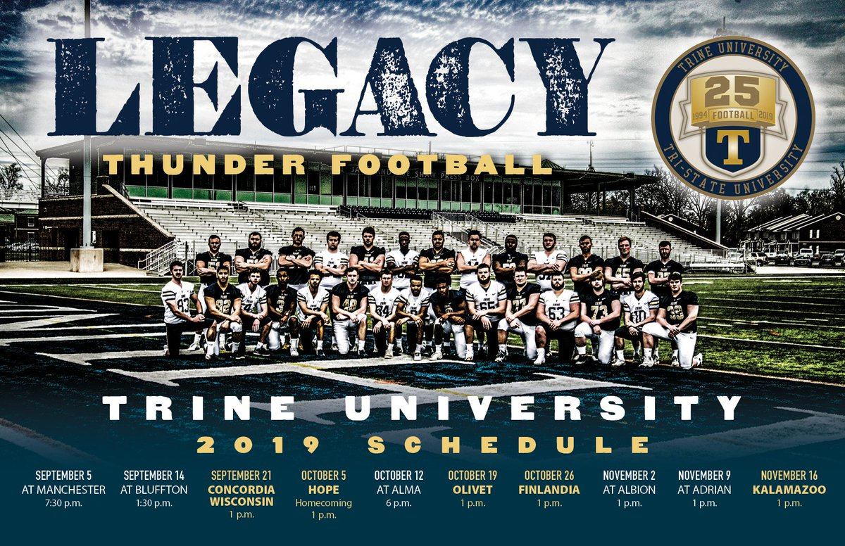 Almost time for the pads to pop! #ThunderLegacy #ThunderTough #TrineFB