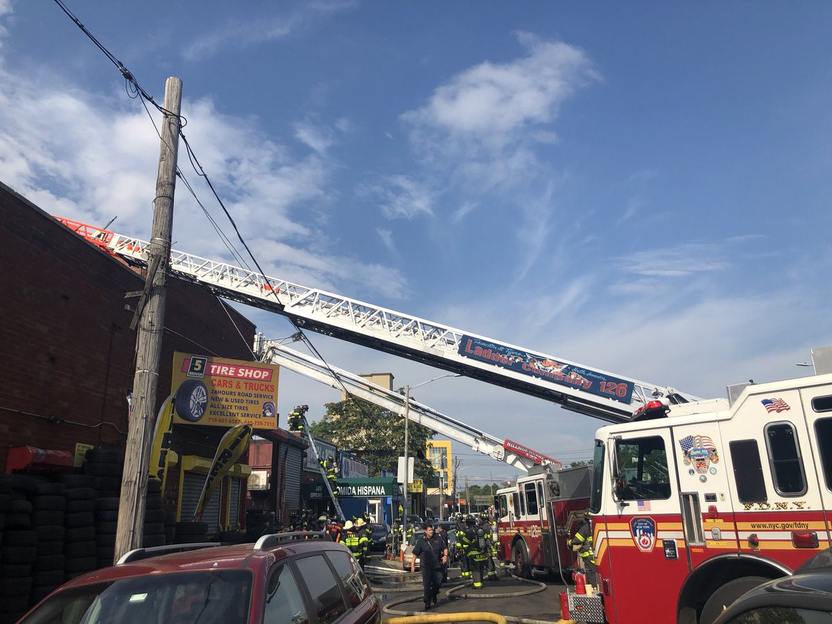 The 3-alarm fire at 150-19 Liberty Ave #Queens has been placed under control. #FDNY members remain on scene
