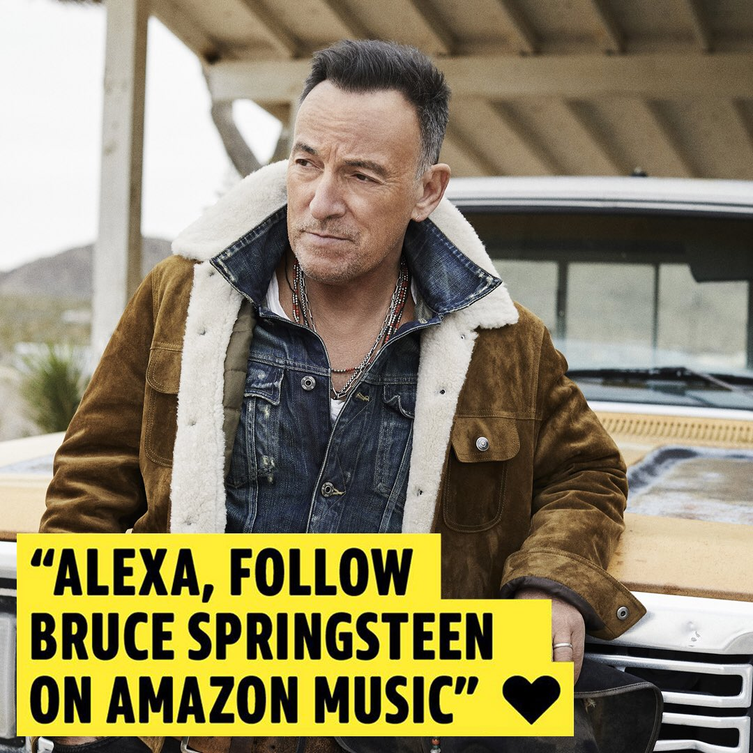 Want to be notified as soon as new music is released? Follow Bruce Springsteen on @AmazonMusic!