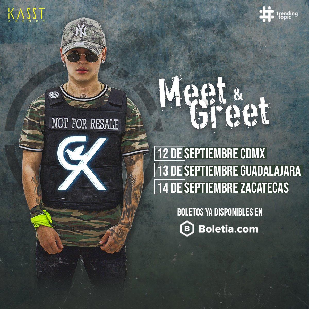 ¡Ya están disponibles las fechas de Meet & Greet con @RKARTISTA en México! 🇲🇽 Adquiere tus boletos a través de: https://t.co/lUOmCec3UF 💥🎟