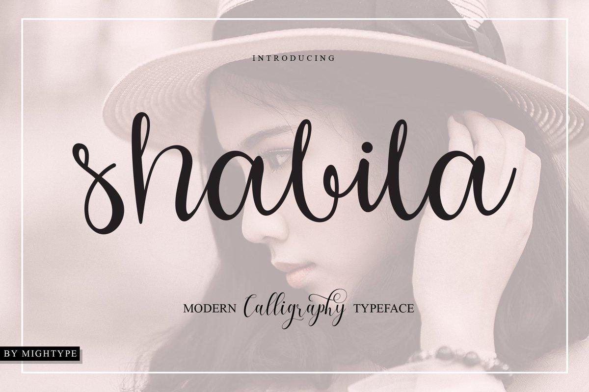 calligraphic hashtag on Twitter