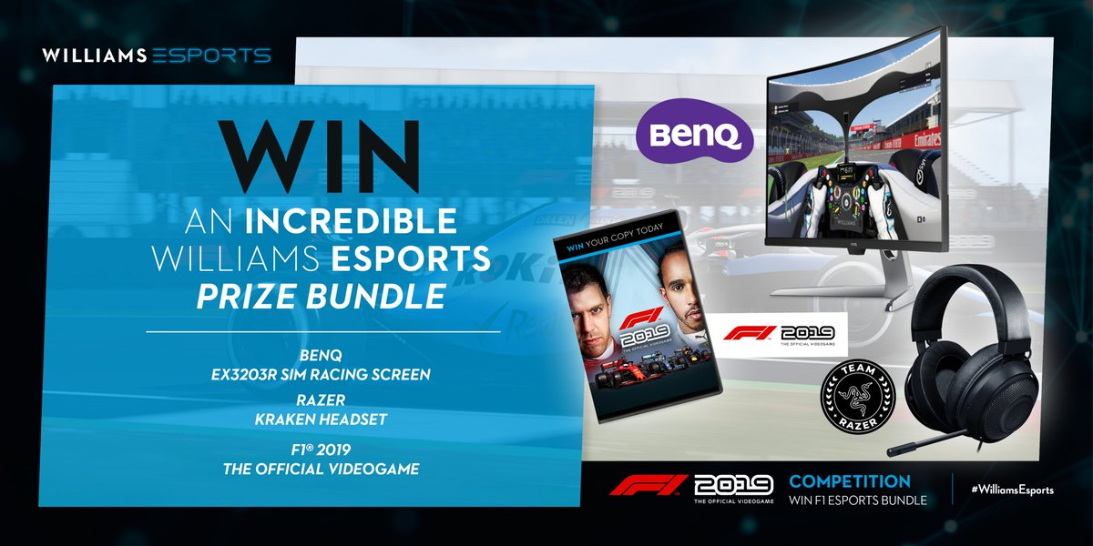 An amazing prize bundle from @WilliamsEsports 😱  Make sure you follow our #Esports team and then enter the competition 👇  #WilliamsEsports #SimRacing