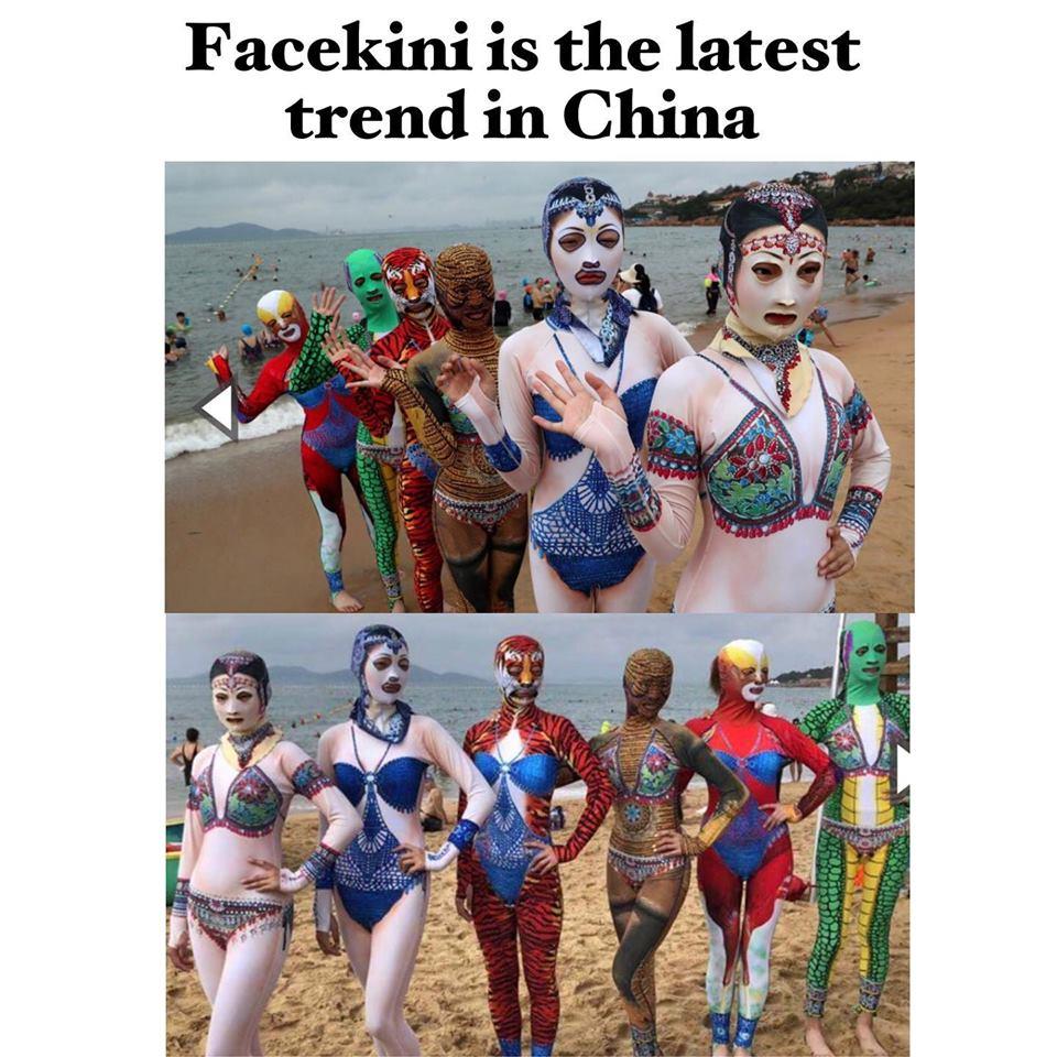 Христос минь гэж! #Facekini гэнээ хаха Хятадад ингэж далайн эрэг ордог болсын бх, базарваань 😹😹
