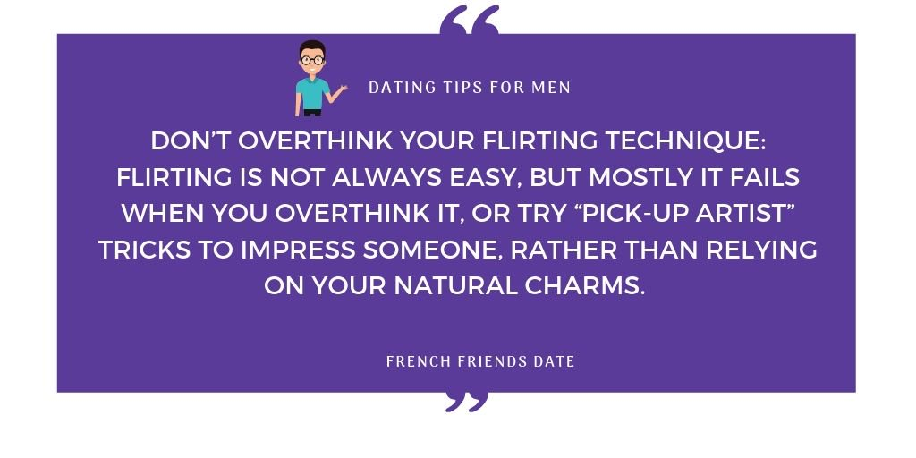 Dont over think dating site