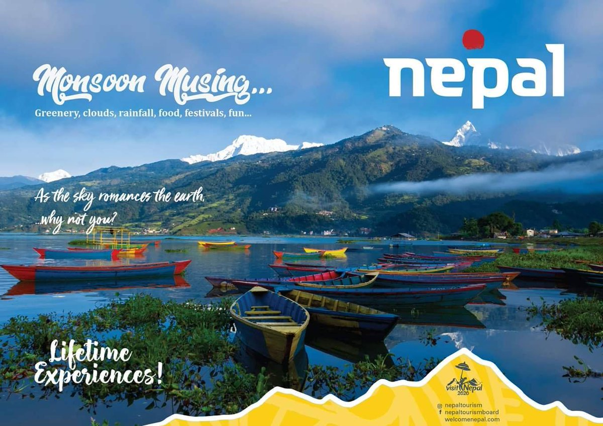 We are promoting MonsoonTourism in SouthAsia and MiddleEast markets. Monsoon is one of the best season for Life Time Experiences. #visitNepal2020 #Lifetimeexperience #naturalnepal #onceisnotenough #experienceNepal