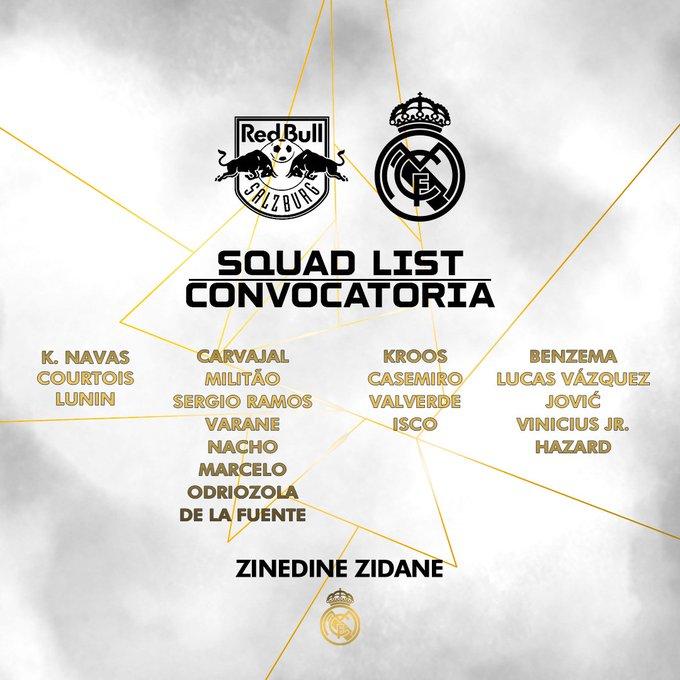 La convocatoria del Real Madrid, sin Luka Modric (Imagen: RM).