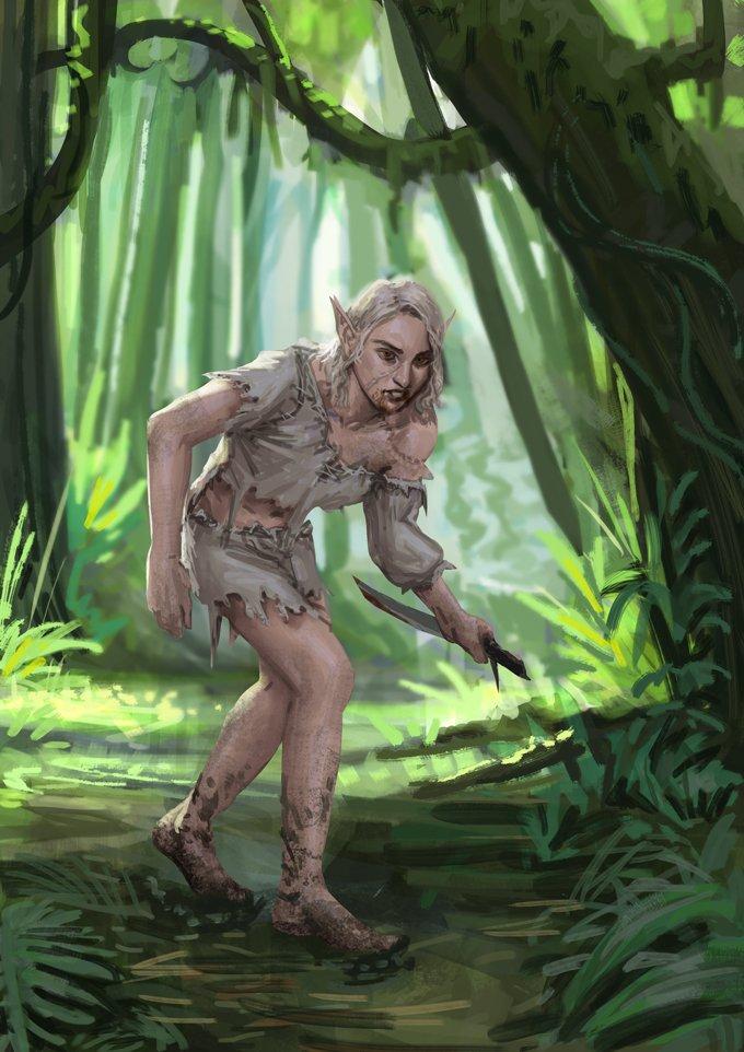 Tre, half elf sorcerer multi-classed into a barbarian