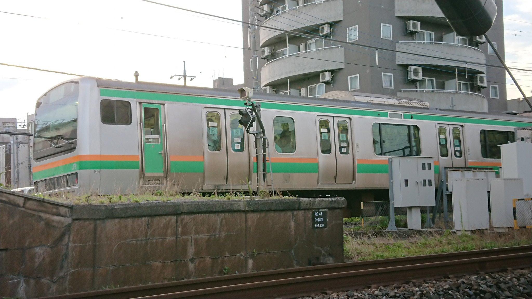宇都宮線の東大宮駅~蓮田駅間の人身事故現場の画像
