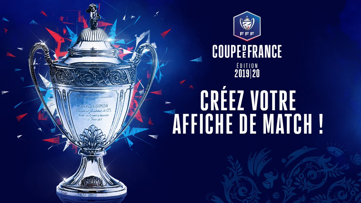La Coupe de France est de retour ! Dès le 1er tour, créez l'affiche de match de votre club préféré et partagez-la ➡️ https://www.fff.fr/affiche-cdf/
