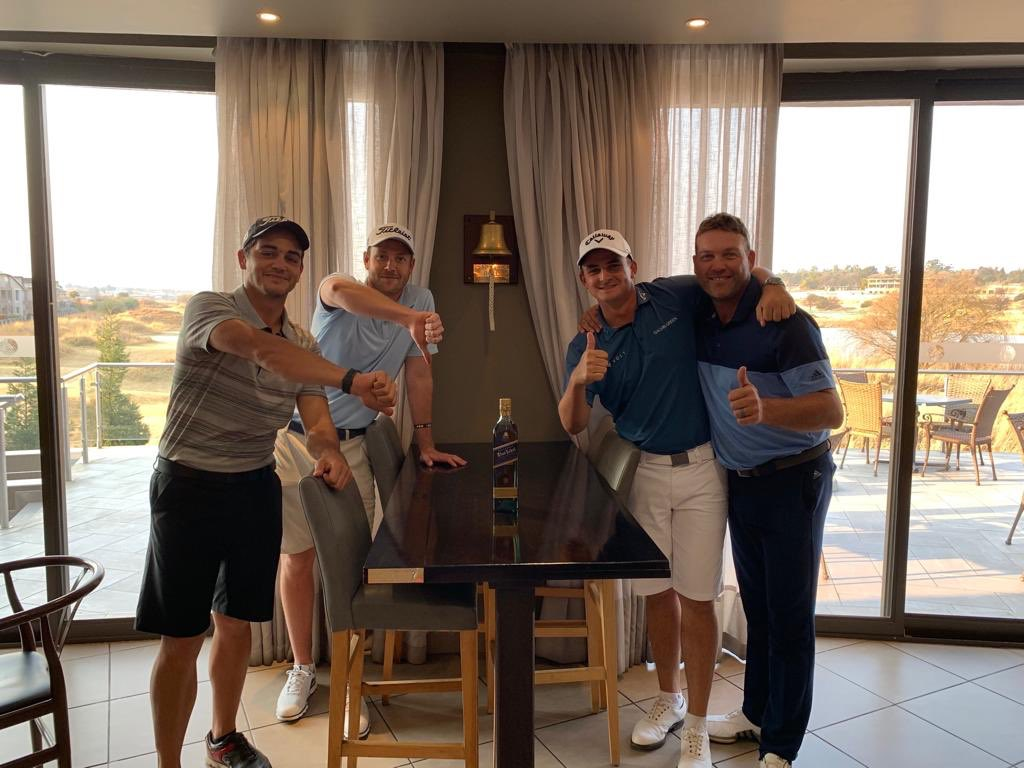 Thanks boys for a great day and all 18holes😂 first Johnny ever and a massive shout out to @EbotseLinks for a great course. @jacqueskallis75 that was a display!!