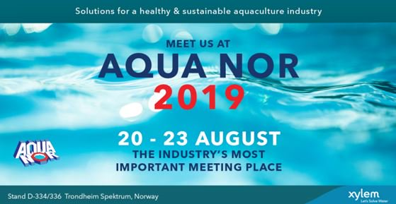 AquaNor 2019 is coming to Trondheim, Norway, on Aug 20-23. Come and meet Xylem experts and join in on the discussion of the most innovative and succes...