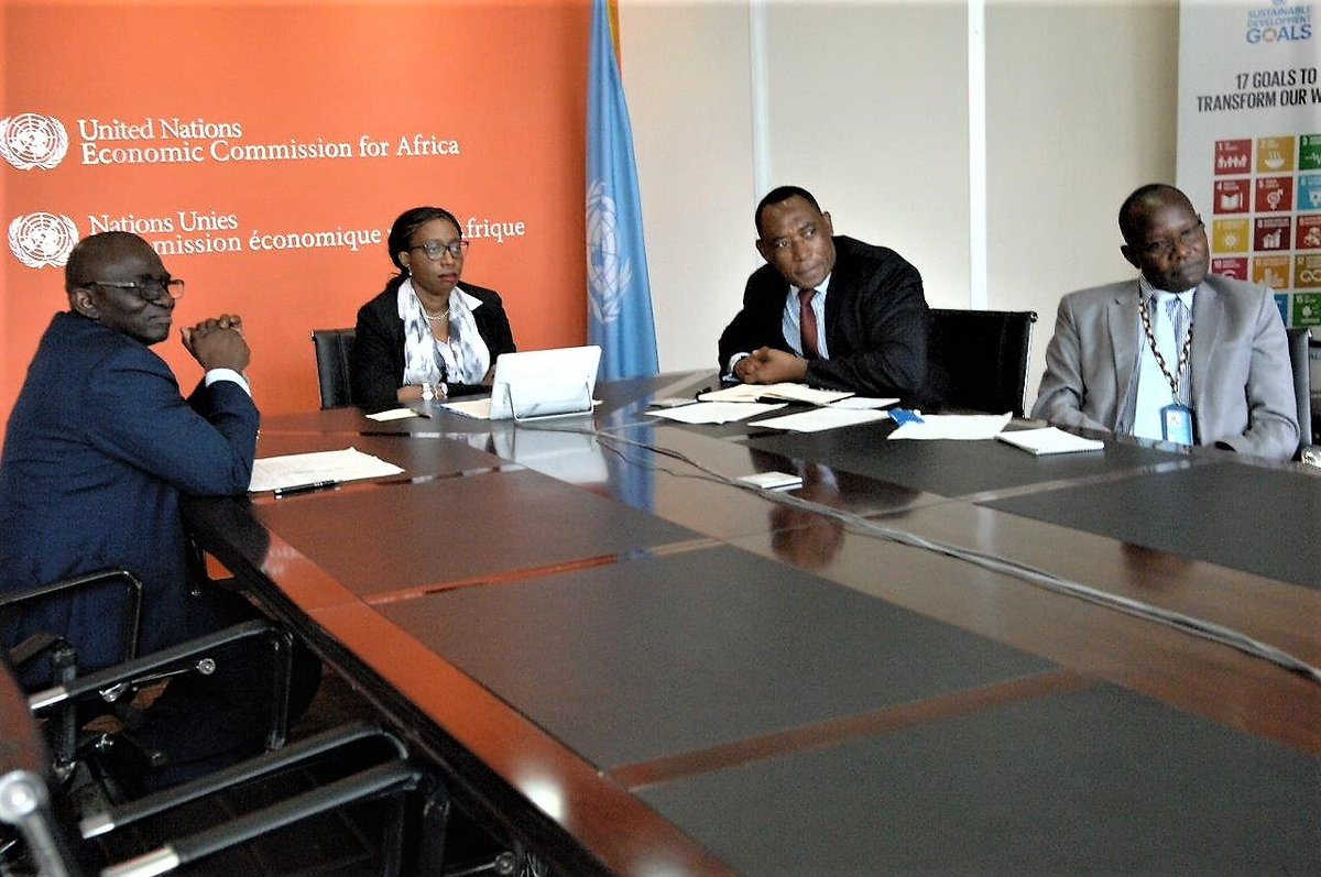 @ECA_OFFICIAL 's Executive Secretary @SongweVera met Monday with #Morocco State Secretary for #SustainableDevelopment and #ARFSD2019 Chair @nezhaelouafi, to follow up on the #MarrakechDeclaration and ensure #Africa 's voice is better heard on #SDGs #VNR  🌍 🔊))) 🇺🇳 🗺️ https://t.co/c4M5okA5JS