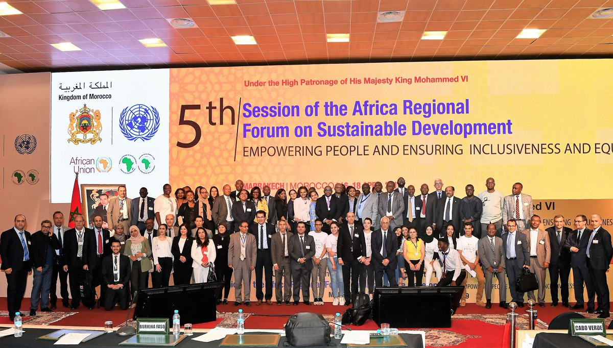 """#ARFSD2019 took place in #Marrakech in April 2019 under the theme: """"Empowering people and ensuring inclusiveness and equality""""       #Agenda2030 #MarrakechDeclaration #ARFSD2019 #Marrakech #SDGs #VNR https://t.co/KiTSLuBwok"""