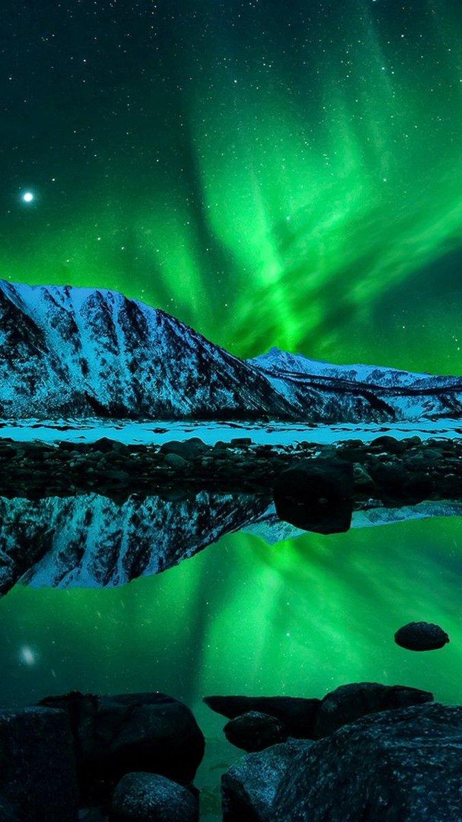 """3D IPhone Wallpaper On Twitter """"Aurora IPhone X Wallpaper"""