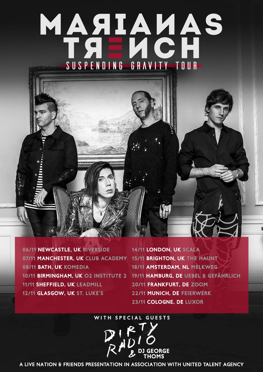 Things just got EVEN BETTER on @mtrench s Suspending Gravity Tour! @dirtyradiomusic is joining them in Europe! ⁠⠀ ⁠⠀ Click the link to grab tickets to what could possibly be the best time of your life! smarturl.it/mtrenchdrad