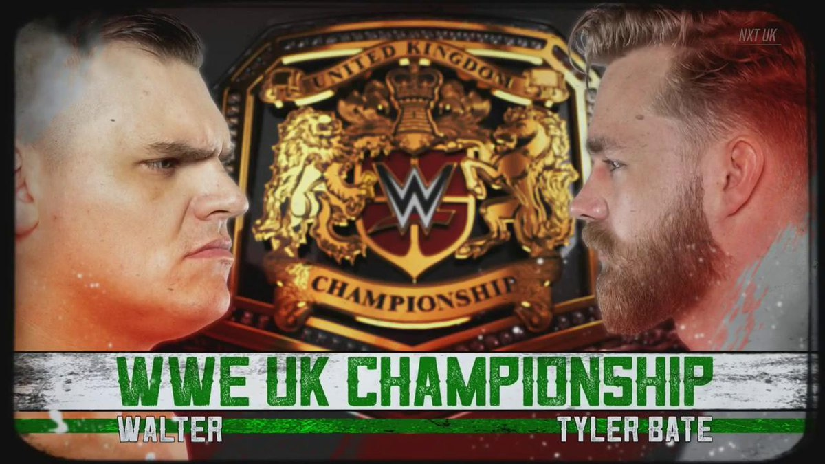.@Tyler_Bate will FINALLY get his hands on @WalterAUT when he challenges the #RingGeneral for the #UKTitle at #NXTUKTakeOver: Cardiff! #NXTUK