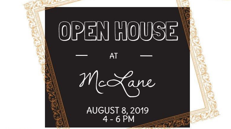 Open House is tomorrow (Thursday, August 8) from 4:00 to 6:00 pm