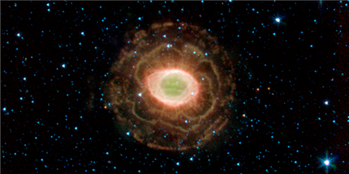 This infrared photo from @NASAspitzer provides a preview of the revelations expected from @NASAWebb. The cosmic blossoms surrounding the Ring Nebula are an outer shell of expelled hydrogen. #InfraredWonders Credit: NASA/JPL-Caltech/J. Hora (Harvard-Smithsonian CfA).