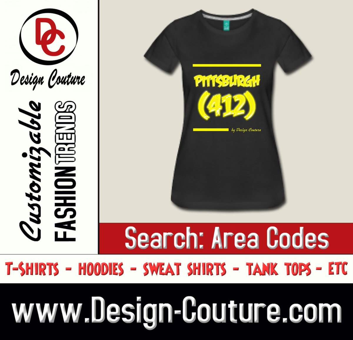 Make a Bold Fashion Statement with Design Couture Customizable Fashion Trends and More.  Design: Pittsburgh (412) Search: Area Codes https://t.co/NACycnvT1Y ——————————————————— Order yours today. ——————————————————— New Designs Uploaded Daily! ——————————————————— Design Couture https://t.co/0JHkzLYlby
