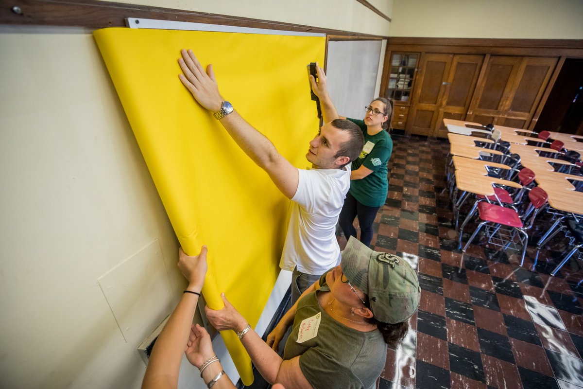 test Twitter Media - Young professionals volunteering through @ICSFBoston donated their time and efforts after work to prepare our Cathedral High School campus for the new school year. Thank you to the volunteers and the Catholic Schools Foundation!  #ICSFBoston | #RCABSchools | #GoFurtherWithFaith https://t.co/NqavXrd8sq