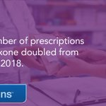 Image for the Tweet beginning: The number of #naloxone prescriptions
