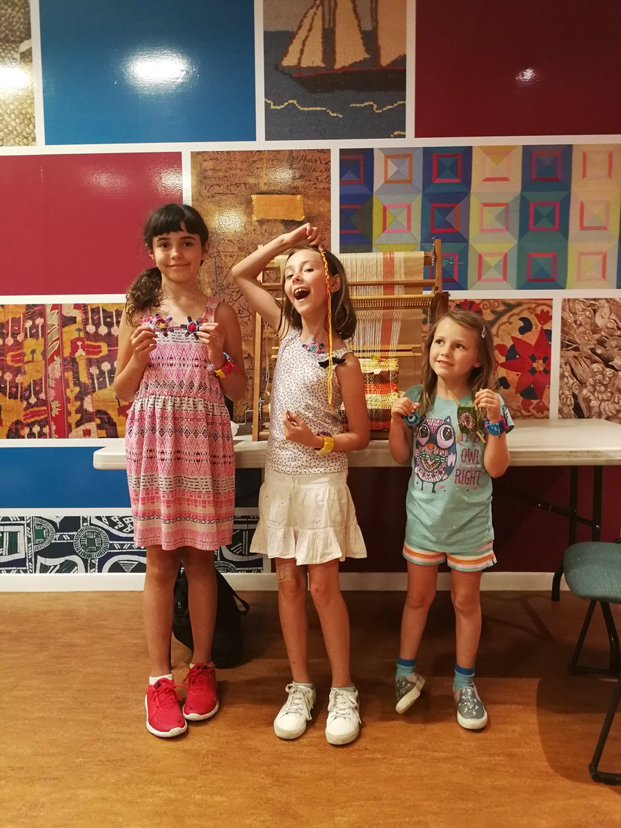 Look at this fabulous group displaying their makes from last weeks Thread Journeys! Join us today from 1-4pm to make your own - free with admission!