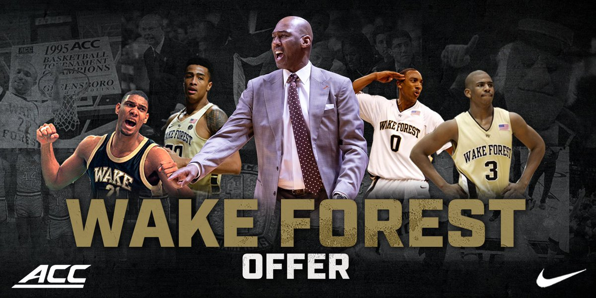Extremely blessed to receive an offer from Wake Forest University! #GoDeacons
