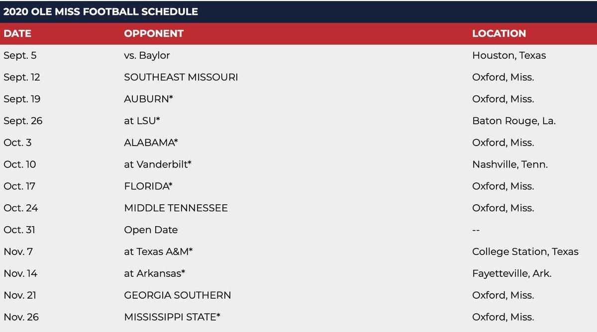 Auburn 2020 Football Schedule.Dalton Middleton On Twitter Auburn Lsu Bama In Three