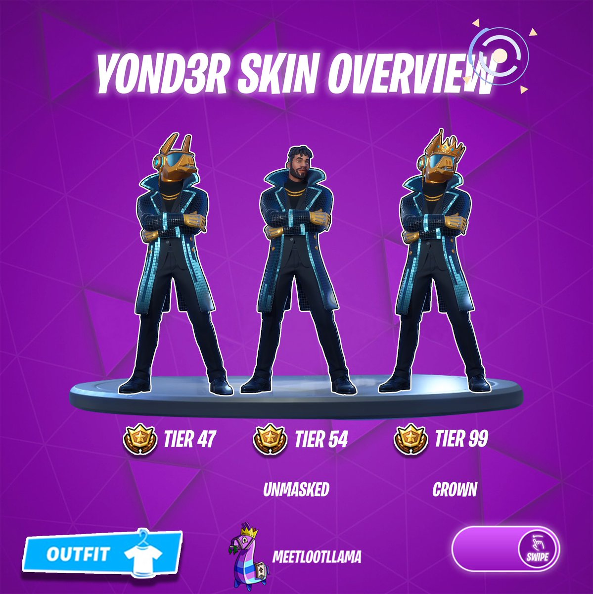 Mll On Twitter Yond3r Skin Overview Fortnite