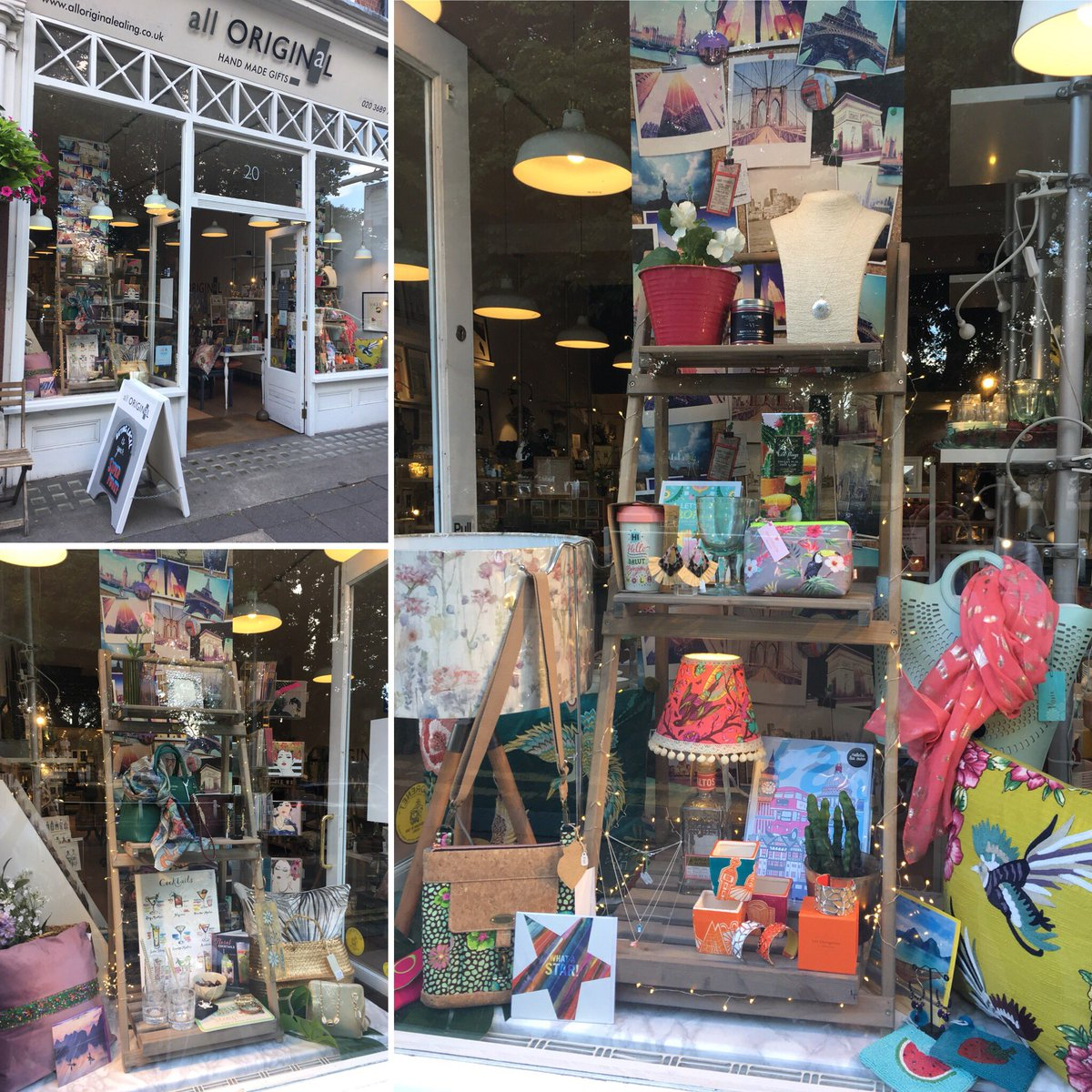 Fabulous window displays as always from Jane of @AllOriginalEali   Don't let the weather get you down, we'll add the sunshine to your day 🌞👍  #Ealing #shoplocal #shopindie @IndieRetailUK https://t.co/OaUIX8hQq5