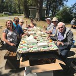 What a beautiful day for a Pic-nic! A few of our residents are out enjoying the summer sun today at Deas Island Park! #picnic #summerfun #Delta #deasislandpark #augustinehouse #forbetterretirementliving