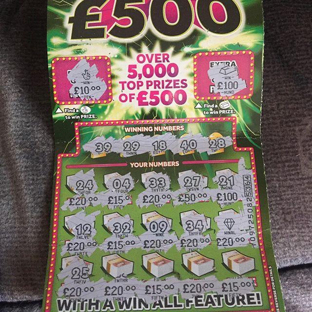 500 #scratchcard jackpot!       #scratchcardwinners #lotto