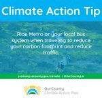 Image for the Tweet beginning: #ClimateAction TIP: Ride @metrolosangeles or