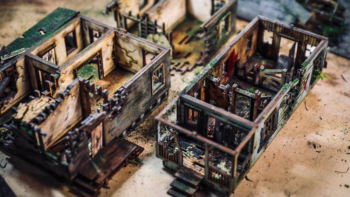 How to paint and age miniature buildings! http://bit.ly/2ZD6Teo