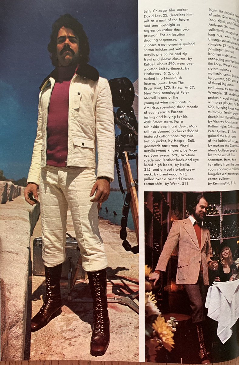 David's dramatic cream ensemble #1970s #mensfashion <br>http://pic.twitter.com/DxCxYsZ9Gm
