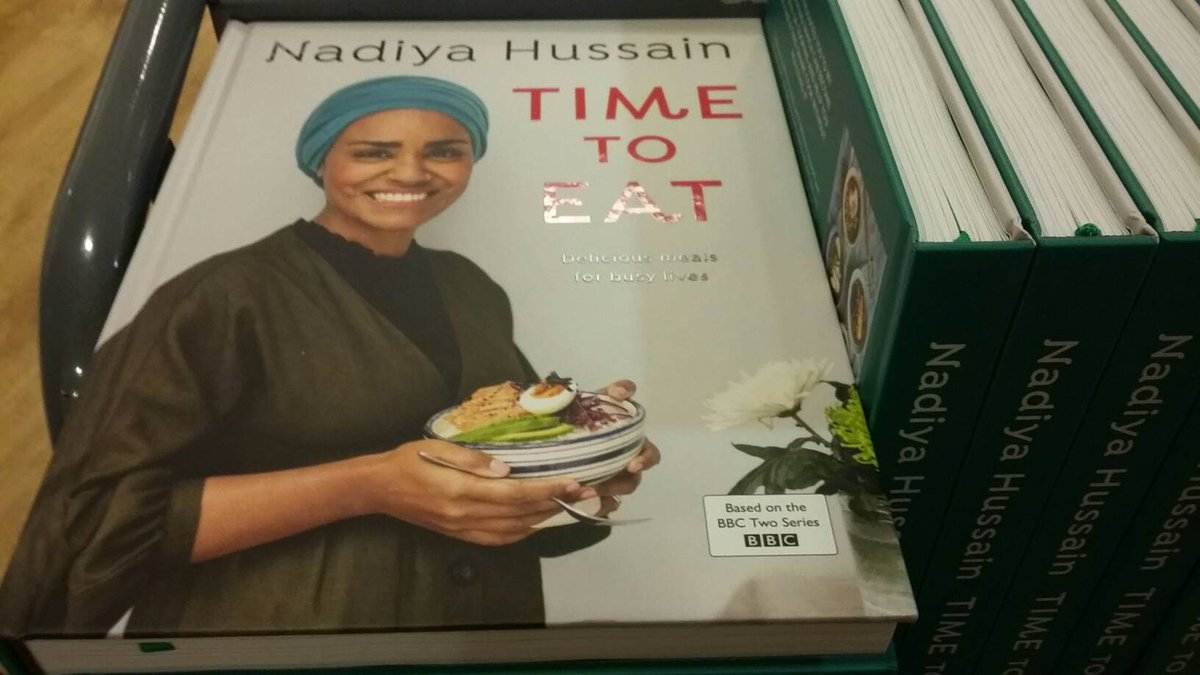 Fresh off the stock trolley - Time To Eat by @BegumNadiya is back in stock at our shop. Bookseller Mark thinks just the recipe for the traybake pancakes is worth the price of the book alone.