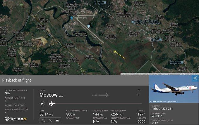 Ural Airlines flight 178 flight track