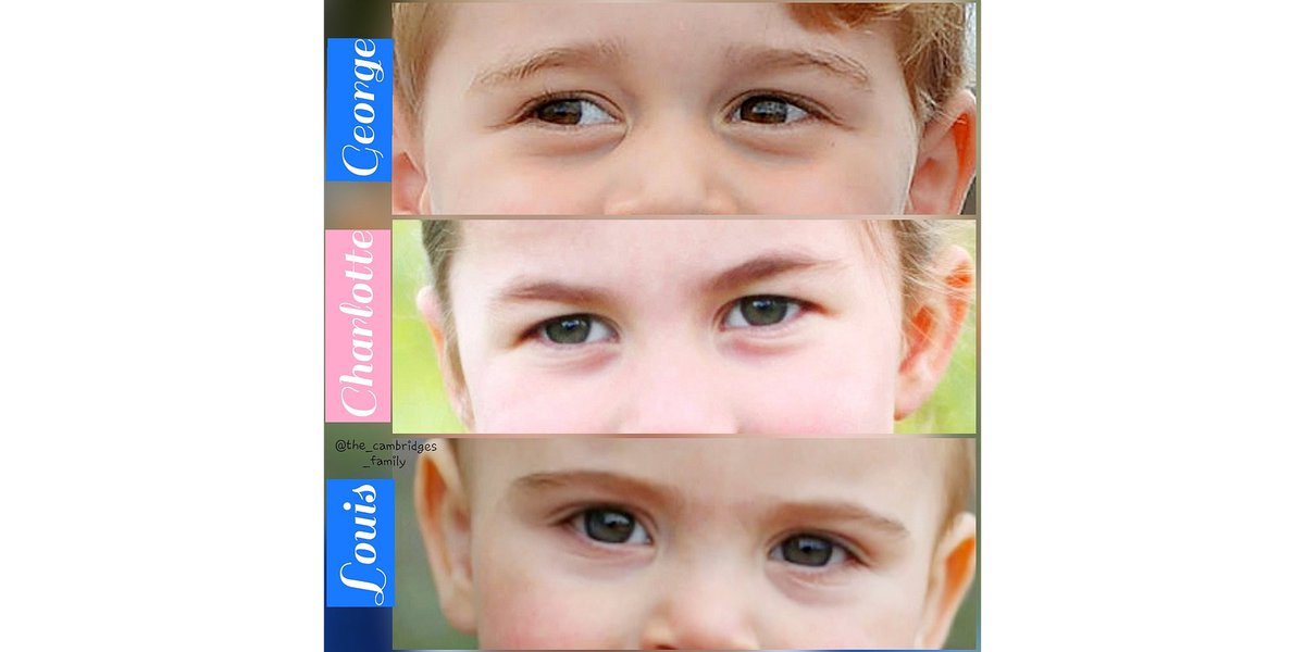 The Cambridges kids' eyes #thecambridgefamily  #PrinceGeorge  #princesscharlotte  #princelouispic.twitter.com/J1kLJfPth5
