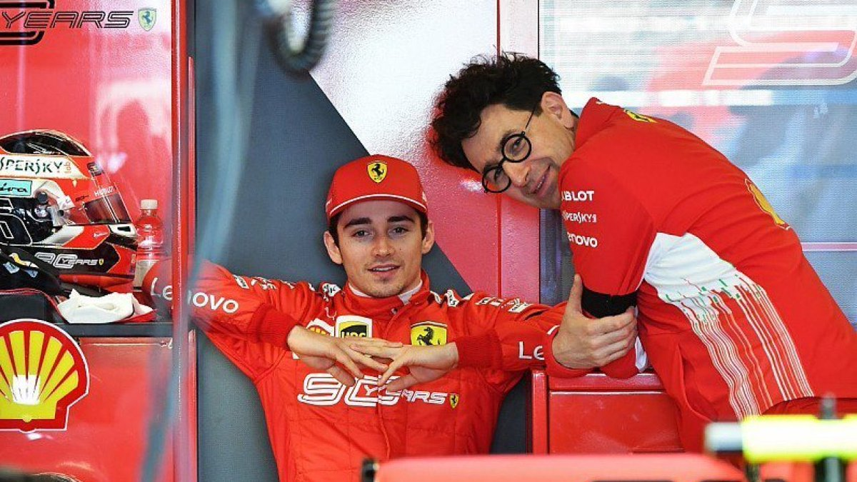 """Besides the races, what do you talk about with Mattia Binotto? @Charles_Leclerc : """"If we only talked about cars, we would go mad. We talk about his children, who are close to me in terms of age, and we challenge ourselves in foosball. They are spectacular games."""" #F1 #Charles16"""
