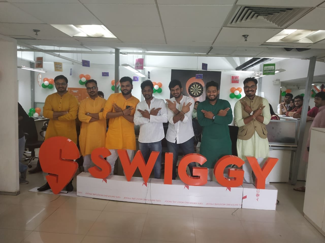 """We Are Swiggy on Twitter: """"Here's a sneak-peek of how our offices from across the country is celebrating #IndependenceDay – all dressed in vibrant ethnic attire with pride. How are you celebrating"""