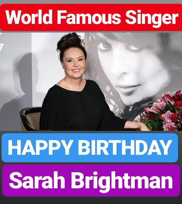 HAPPY BIRTHDAY  Sarah Brightman