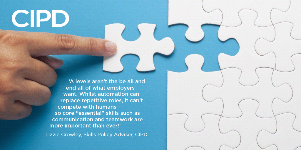Students might still rest their hopes of landing their dream job on the outcome of #ALevelsResultsDay2019, but grades are only part of the story for employers. This is why new Essential Skills Taskforce has launched to help young people, find out more 👉 ow.ly/3mVn50vxwXY