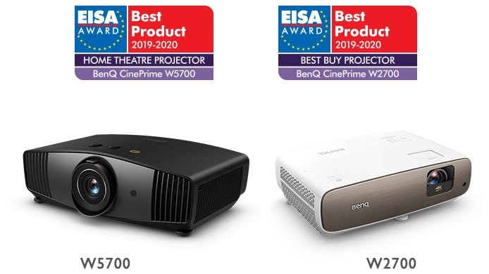 Best Home Theater Projector 2020 BenQ is honored to announce that #W5700 & #W2700 4K projectors