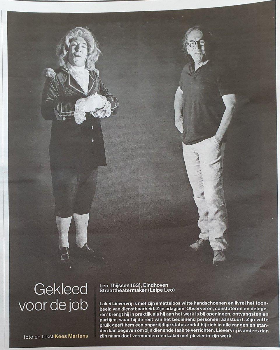 """Een knap staaltje fotografie van #KeesMartens in het ED (#EindhovensDagblad) vandaag onder de rubriek """"Gekleed voor de job"""" #LakeiLievervrij"""
