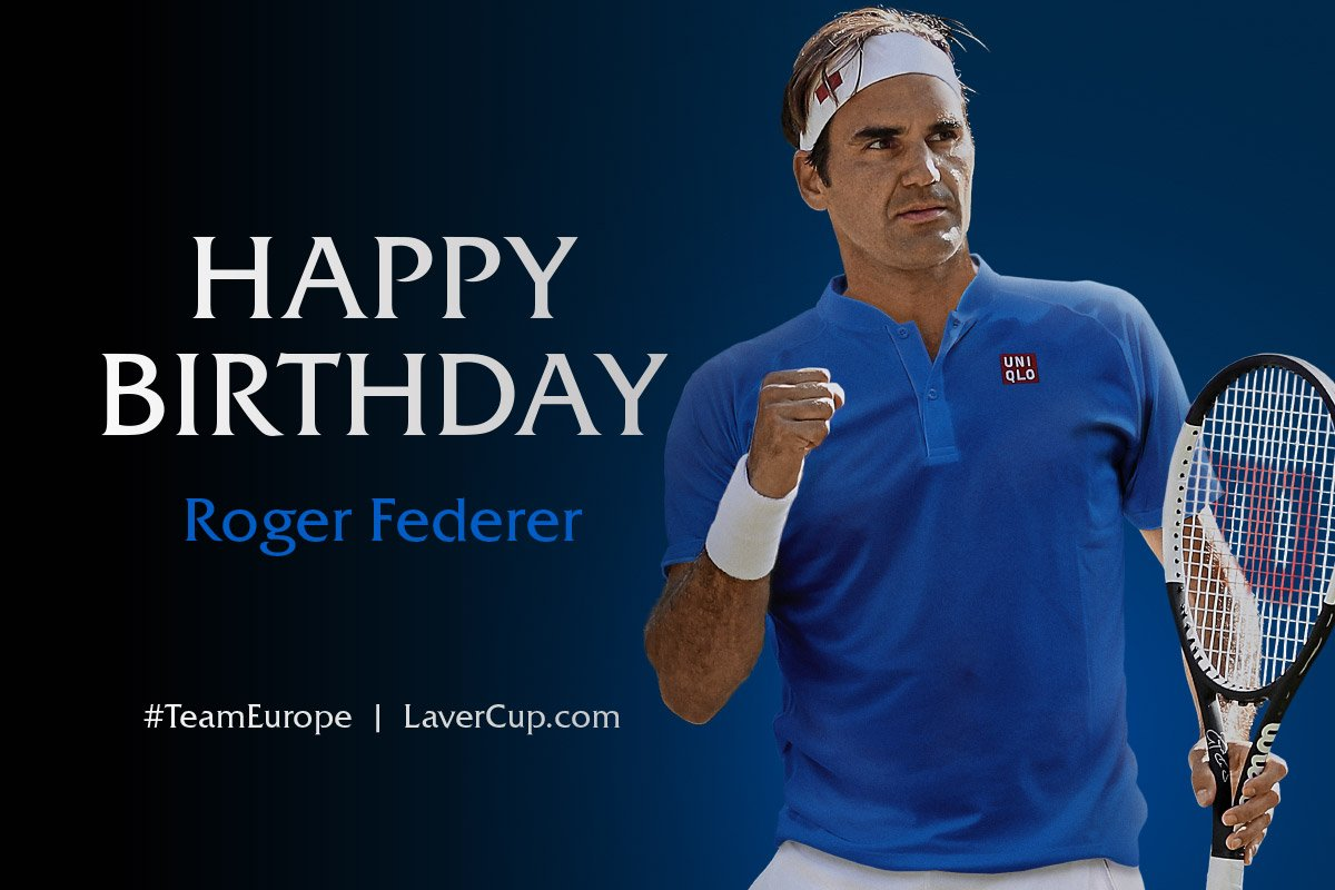38 reasons to celebrate! Happy birthday to #TeamEurope's @RogerFederer