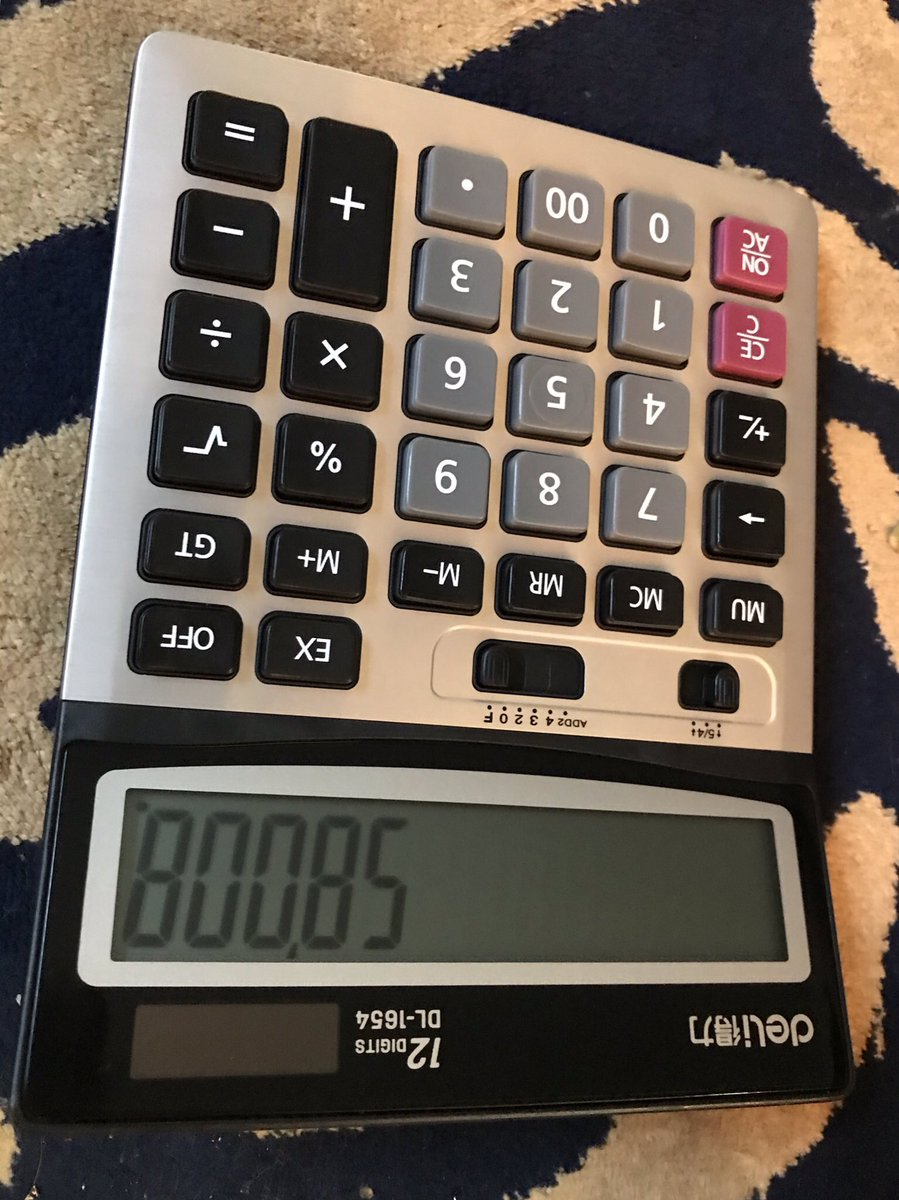Aww my parents are so sweet, they sent me a IRL calculator. https://t.co/QtcPOdkGeD